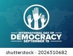 international day of democracy. ... | Shutterstock .eps vector #2026510682