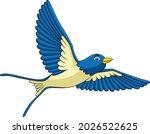 cute swallow bird cartoon...   Shutterstock .eps vector #2026522625