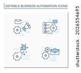 business automation line icons...   Shutterstock .eps vector #2026554695