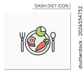 meal plan color icon. 2000...   Shutterstock .eps vector #2026554752