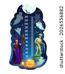 kids height chart  halloween... | Shutterstock .eps vector #2026556882