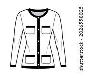 blazer jacket like chanel suit... | Shutterstock .eps vector #2026558025