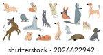 cute dogs doodle vector set.... | Shutterstock .eps vector #2026622942