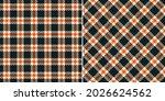 plaid pattern in black  orange  ... | Shutterstock .eps vector #2026624562