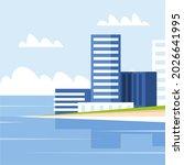 vector image of hotel building... | Shutterstock .eps vector #2026641995