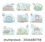 energy sources with fossil fuel ... | Shutterstock .eps vector #2026680758
