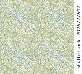 paisley floral oriental ethnic... | Shutterstock .eps vector #2026727642