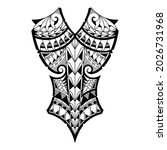 the polynesian tattoo on the... | Shutterstock .eps vector #2026731968