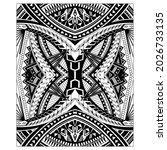 polynesian tattoo on back. zoom ... | Shutterstock .eps vector #2026733135