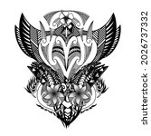 the polynesian tattoo on the... | Shutterstock .eps vector #2026737332