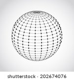 wire frame sphere. vector...