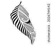 maori tattoo of fern leaves...   Shutterstock .eps vector #2026744142
