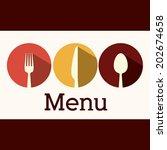kitchen design over brown... | Shutterstock .eps vector #202674658