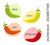 spicy level scale. chili pepper ...   Shutterstock .eps vector #2026807568