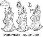 Indian Wedding Clip Art Women...