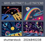 1980s abstract illustration set ... | Shutterstock .eps vector #2026840238