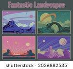 fantastic landscapes ... | Shutterstock .eps vector #2026882535