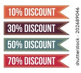 colorful discount tag banner | Shutterstock .eps vector #202689046