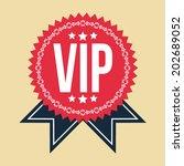 vip classic vintage badge | Shutterstock .eps vector #202689052
