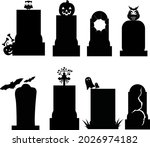 Tombstone Halloween Silhouette...