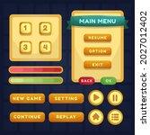 button set designed game user...