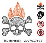 mesh death fire web icon vector ... | Shutterstock .eps vector #2027017538