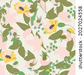 delicate pink pattern with... | Shutterstock .eps vector #2027024558