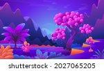 unusual alien plants and... | Shutterstock .eps vector #2027065205