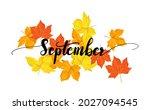 september greeting card... | Shutterstock .eps vector #2027094545