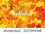 september greeting card...   Shutterstock .eps vector #2027094548