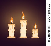 burning candle in cartoon style ...   Shutterstock .eps vector #2027108132