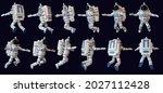 3d astronaut flies in open...   Shutterstock . vector #2027112428