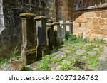 Remains Of Pillars Placed In...
