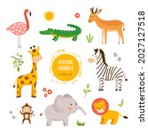 Vector Set Of Cute Young Wild...