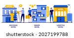 boutique and design hotel ... | Shutterstock .eps vector #2027199788