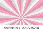 white and pink sunburst pattern ...   Shutterstock .eps vector #2027245298
