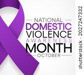 domestic violence awareness...   Shutterstock .eps vector #2027247332