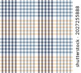 plaid pattern in blue  yellow ... | Shutterstock .eps vector #2027255888