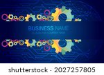 abstract techno gear background ...   Shutterstock .eps vector #2027257805