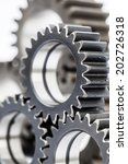 close up of machine gears | Shutterstock . vector #202726318