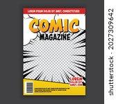 vector comic template magazine  ... | Shutterstock .eps vector #2027309642