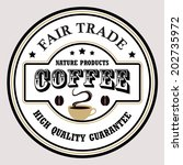 vintage coffee badges and... | Shutterstock .eps vector #202735972