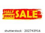 half price sale   text in... | Shutterstock .eps vector #202743916