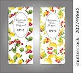 watercolor fruits vector... | Shutterstock .eps vector #202749862