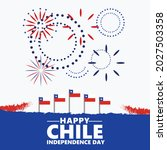 chile independence day... | Shutterstock .eps vector #2027503358