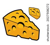 a vector illustration of cheese ... | Shutterstock .eps vector #2027508272