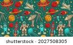 cartoon space seamless... | Shutterstock .eps vector #2027508305