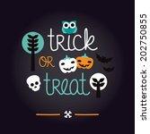 fun kids halloween illustration ... | Shutterstock .eps vector #202750855