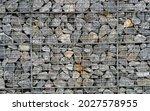 Wire Gabion Rock Fence. Stone...