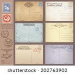 a set of high detail grunge... | Shutterstock .eps vector #202763902